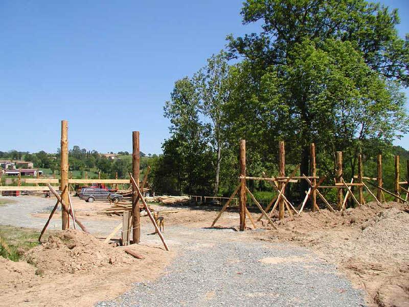 Entrée du parc Salva Terra en construction