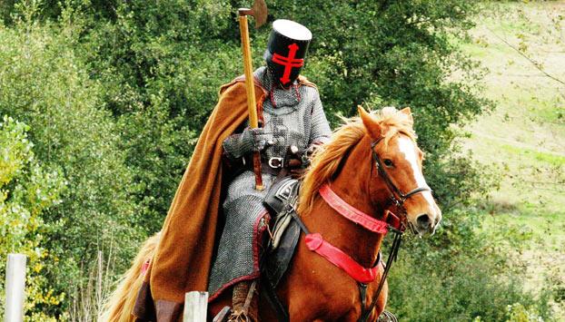 le chevalier et son destrier