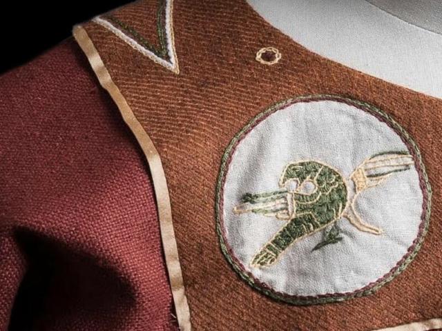Broderie pour costume médiéval