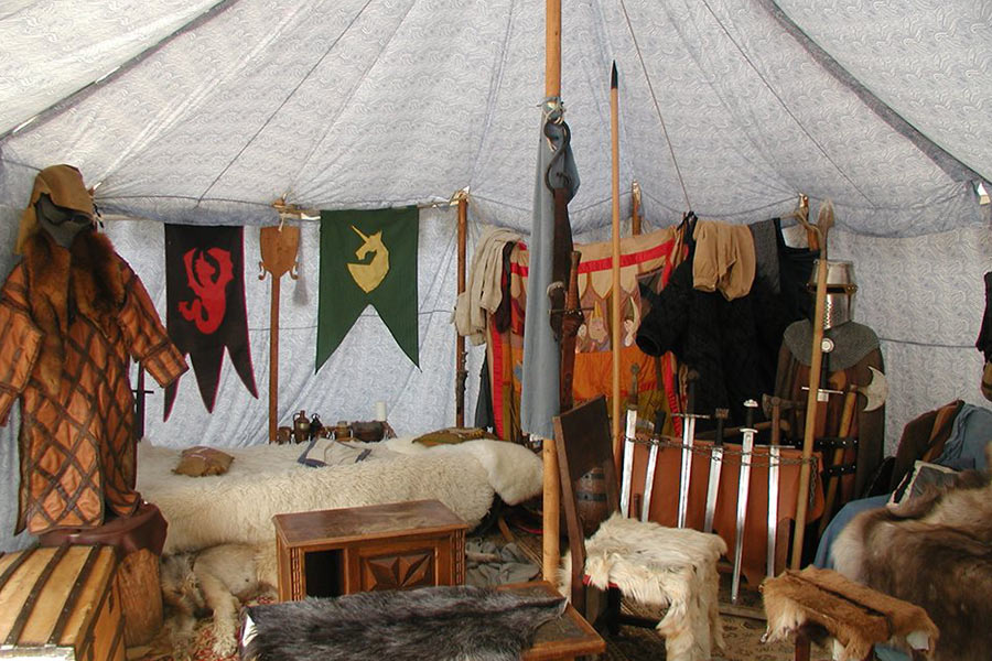Tente du seigneur de Salva Terra